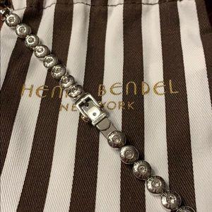 Silver Henri Bendel buckle bracelet